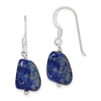 Sterling Silver Blue Lapis Square Earrings