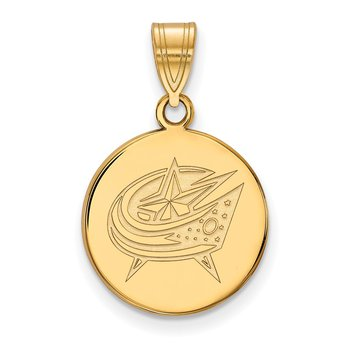 Gold Columbus Blue Jackets NHL Pendant