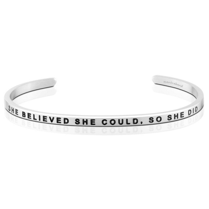 MantraBand SHE_BELIEVED_SHE_COULD_SO_SHE_DID_BRACELET_-_SILVER_-_MANTRABAND
