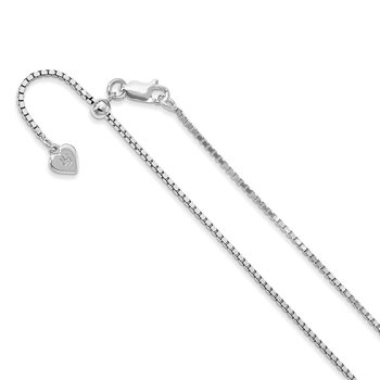 Leslie's Sterling Silver 1.3 mm Adjustable Box Chain
