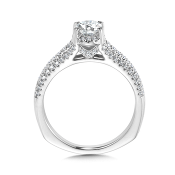 Oval Center Split Shank Engagement Ring in 14K White Gold (0.40 ct. tw.)