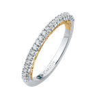 Carizza 14K Two-Tone Gold Round Diamond Half-Eternity Wedding Band