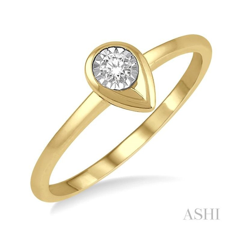ASHI pear shape diamond promise ring