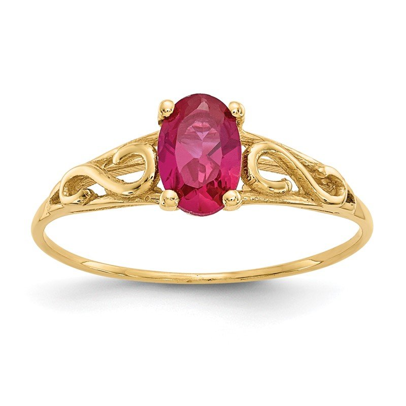 Quality Gold 14k Madi K Synthetic Ruby Ring