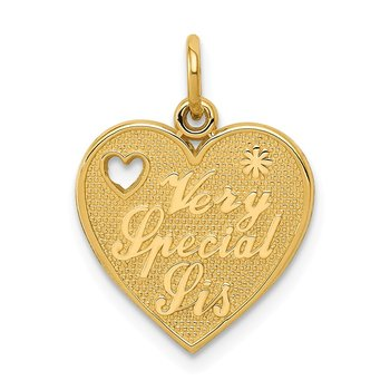 14k VERY SPECIAL SIS Charm