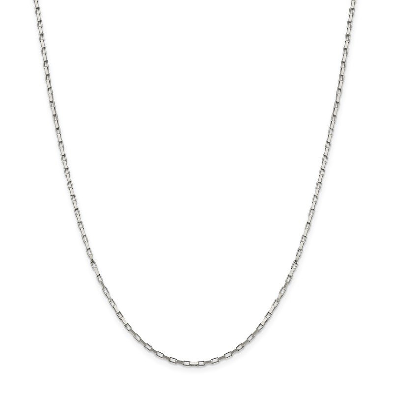 Quality Gold Sterling Silver 1.65mm Elongated Box Chain