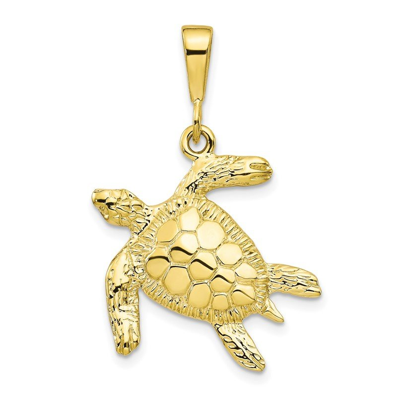 Quality Gold 10k Turtle Pendant