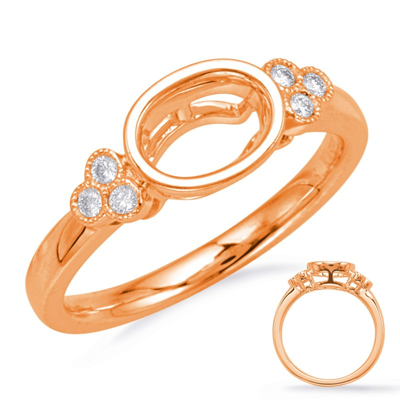 S. Kashi & Sons Bridal Rose Gold Bezel Head Engagement Ring