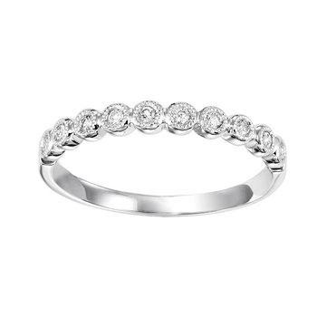 Diamond ¼ Eternity Bezel Bubble Stackable Band in 14k White Gold