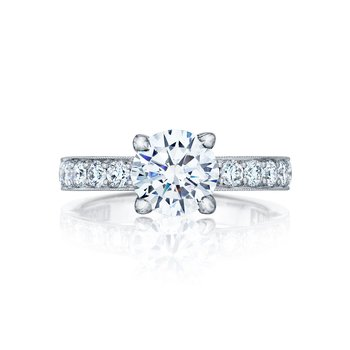 Halfway Diamond Engagement Ring
