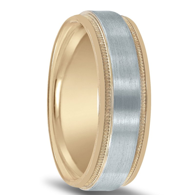 Novell Men's Two-tone Wedding Band NT16590 by Novell
