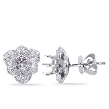 White Gold Diamond Earring for .50cttw