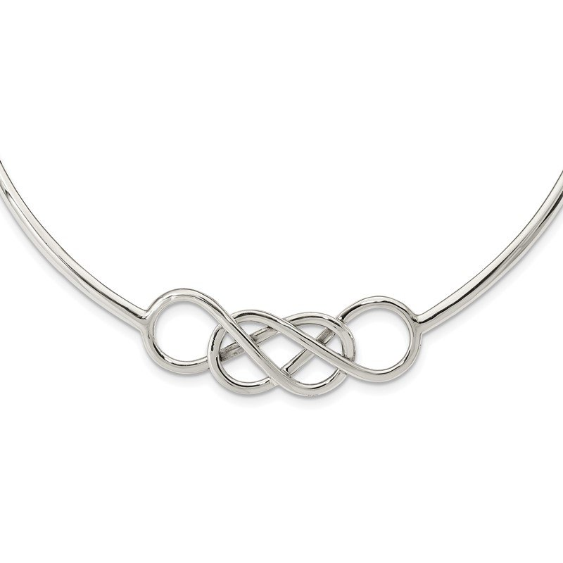 Quality Gold Sterling Silver Knot Neck Collar