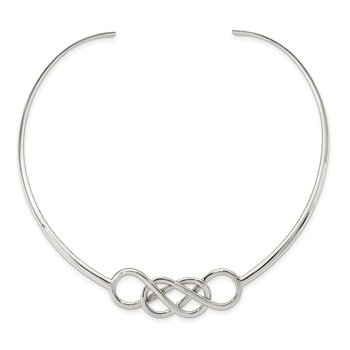 Sterling Silver Knot Neck Collar