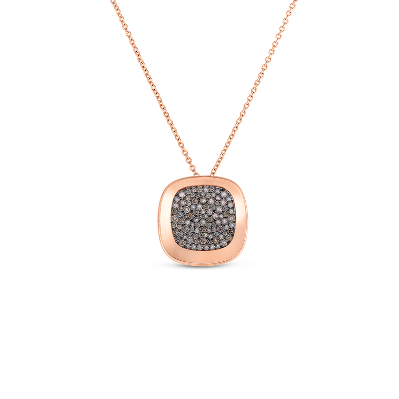 Roberto Coin 18KT GOLD SMALL PENDANT WITH BROWN DIAMONDS