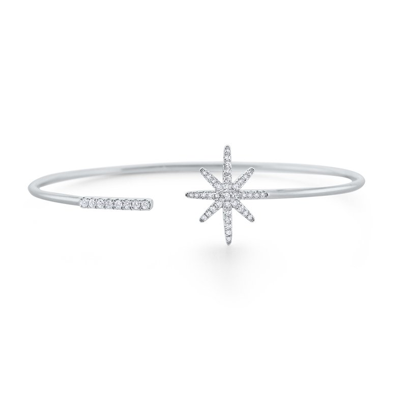 MAZZARESE Fashion 14K Diamond Starburst Wire Bangle