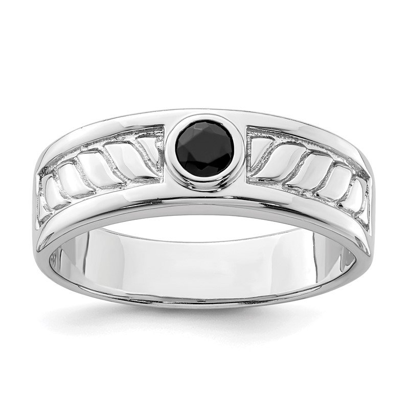 J.F. Kruse Signature Collection Sterling Silver Men's Onyx Ring