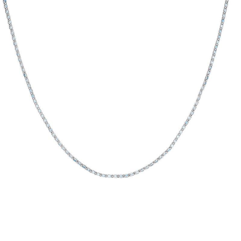 Royal Chain Silver Blue CZ Necklace