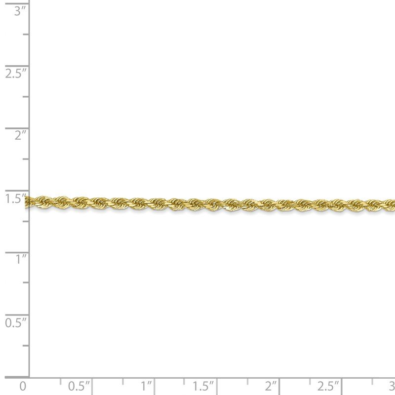 Quality Gold 10k 2.25mm Diamond-cut Rope Chain