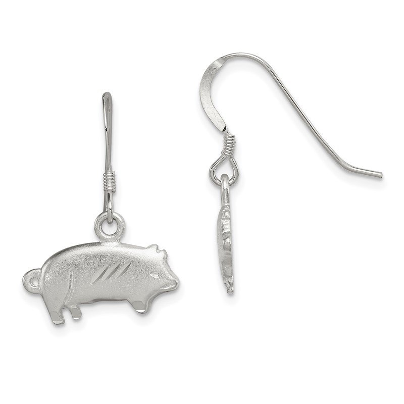 Quality Gold Sterling Silver Satin Pig Earrings