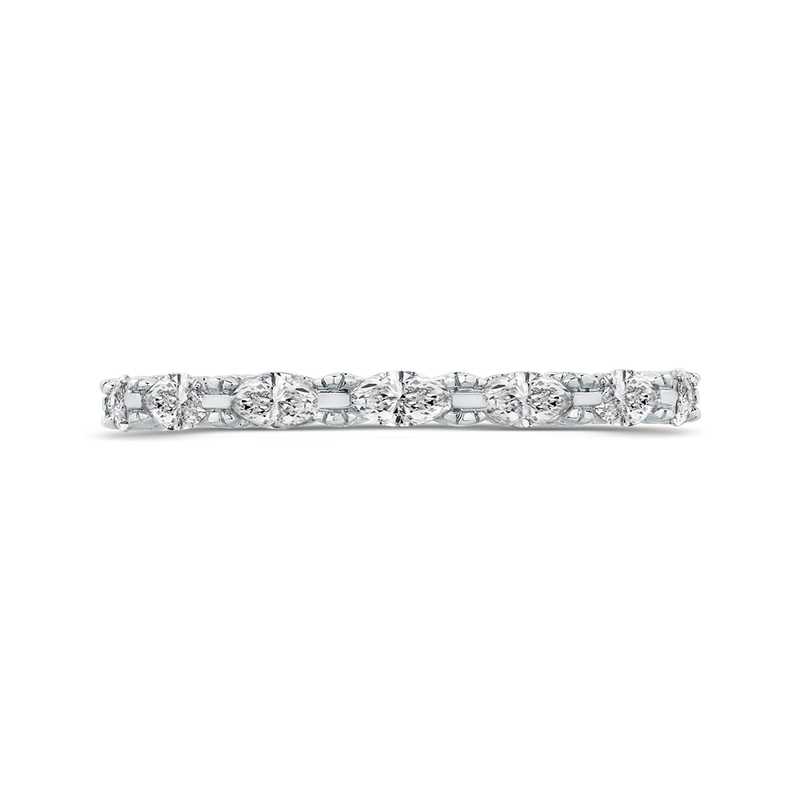 Carizza 14K White Gold Marquise Diamond Wedding Band