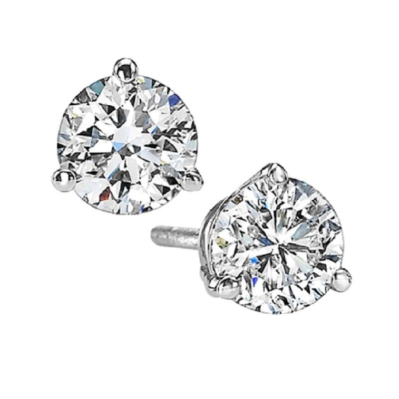 Gems One Diamond Stud Earrings in 18K White Gold (1 1/2 ct. tw.) SI2 - G/H