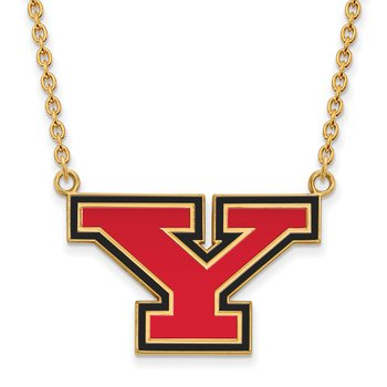 Gold-Plated Sterling Silver Youngstown State University NCAA Necklace