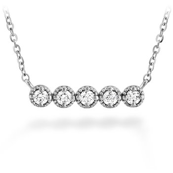 0.17 ctw. Liliana Milgrain Diamond Bar Necklace
