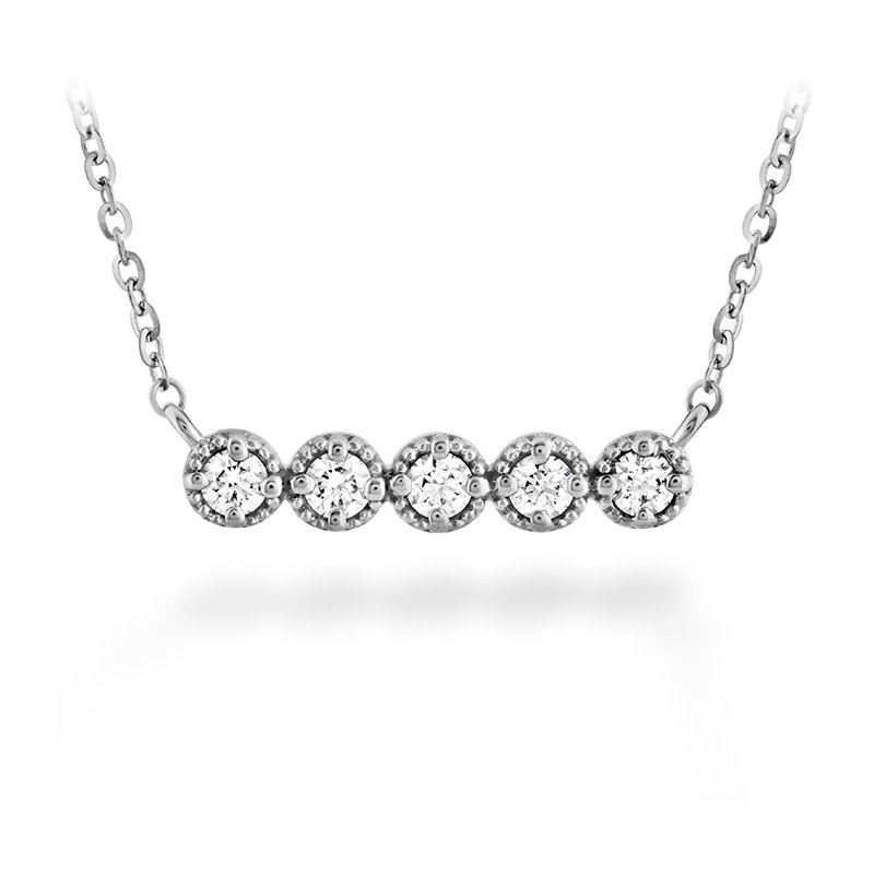 Hearts on Fire 0.17 ctw. Liliana Milgrain Diamond Bar Necklace