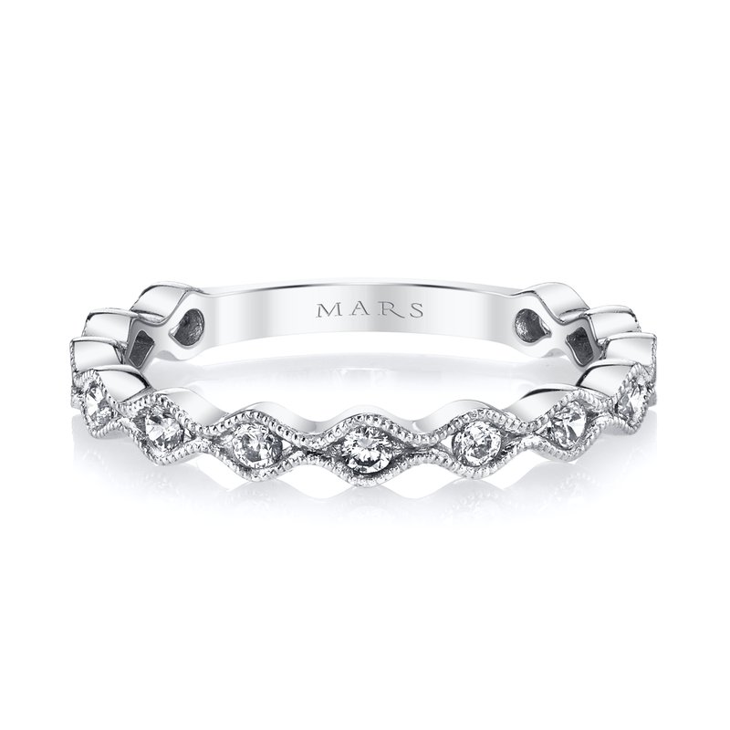 MARS Jewelry MARS 26209 Stackable Ring, 0.33 Ctw.