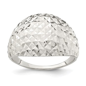 Sterling Silver Diamond-cut Ring