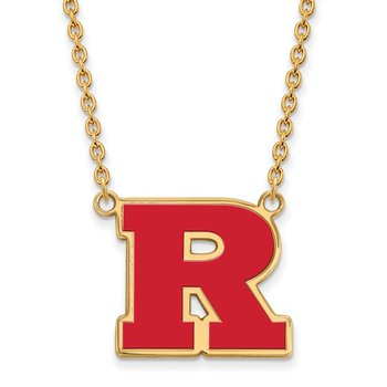 Gold-Plated Sterling Silver Rutgers University NCAA Necklace