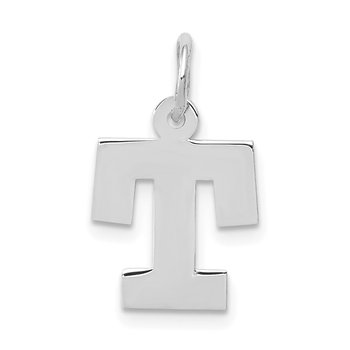 14KW Small Block Letter T Initial Charm