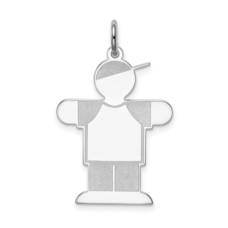 Quality Gold Sterling Silver Rhodium-plated Kid Charm
