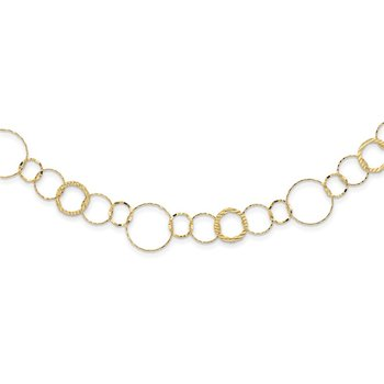 14K Yellow Combo Circle Chain