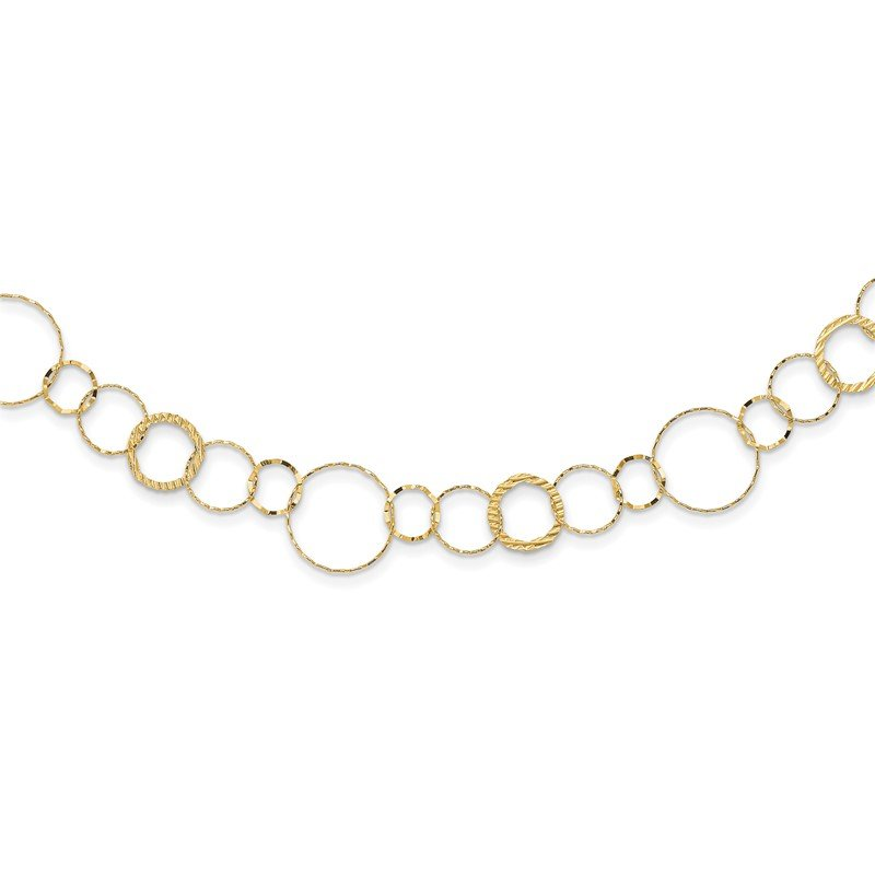 Quality Gold 14K Yellow Combo Circle Chain