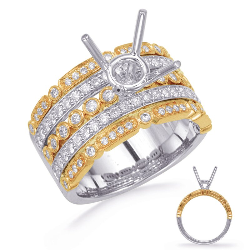 S. Kashi & Sons Bridal Yellow & White Gold Diamond Engagement R