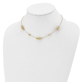 Leslie's 14k Fancy Adjustable Necklace