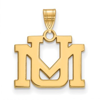 Gold-Plated Sterling Silver University of Montana NCAA Pendant