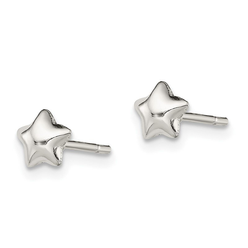 Quality Gold Sterling Silver Star Post Earrings