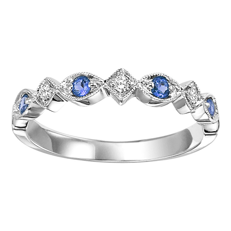 10K Sapphire & Diamond Mixable Ring