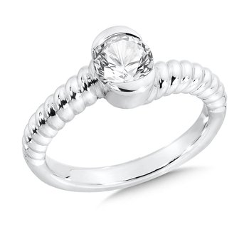 Sterling Silver Created White Sapphire Colore Of Life Stack Ring