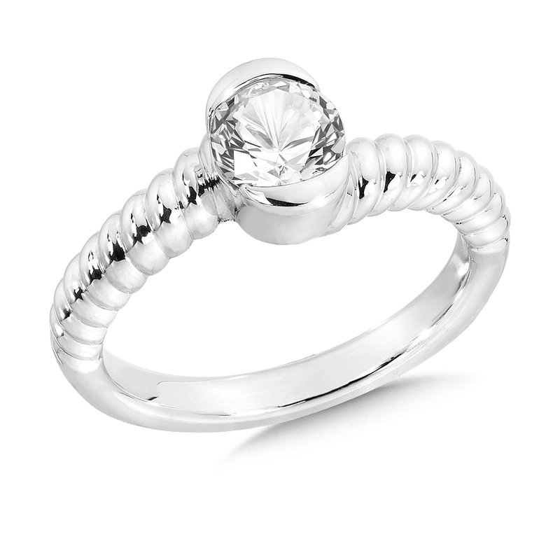 Colore Sg Sterling Silver Created White Sapphire Colore Of Life Stack Ring
