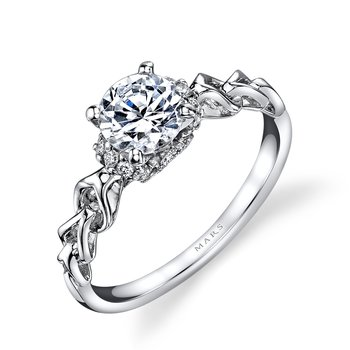 MARS 25847 Diamond Engagement Ring 0.12 Ctw.