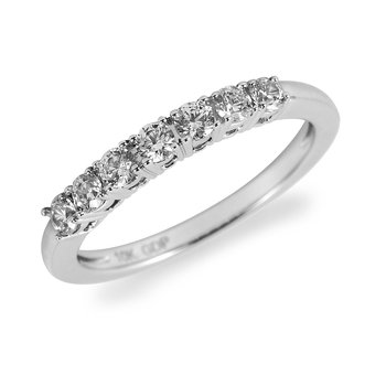 14K WG Diamond 7-Stone Band (0.50 Cts)