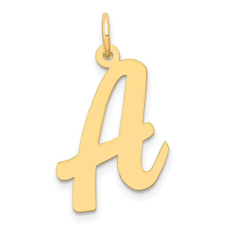 Quality Gold 14k Large Script Letter A Initial Charm