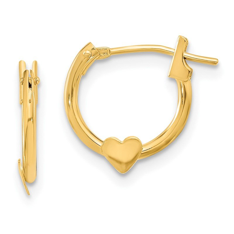 Quality Gold 14k Madi K Heart Hoop Earrings