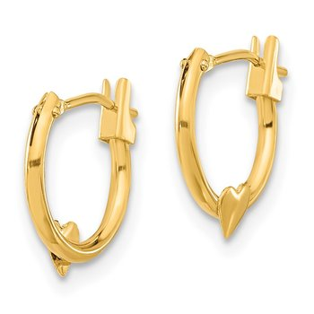 14k Madi K Heart Hoop Earrings