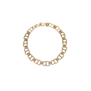 18K Gold Pop Top Bracelet With Pave Diamonds