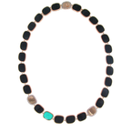 Roberto Coin 18Kt Gold Necklace With Black Jade, Green Agate And Diamonds